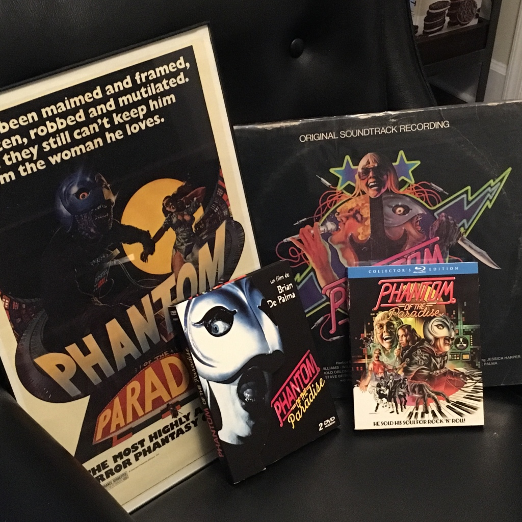 Phantom of the Paradise poster, French DVD, Blu-Ray, vinyl soundtrack