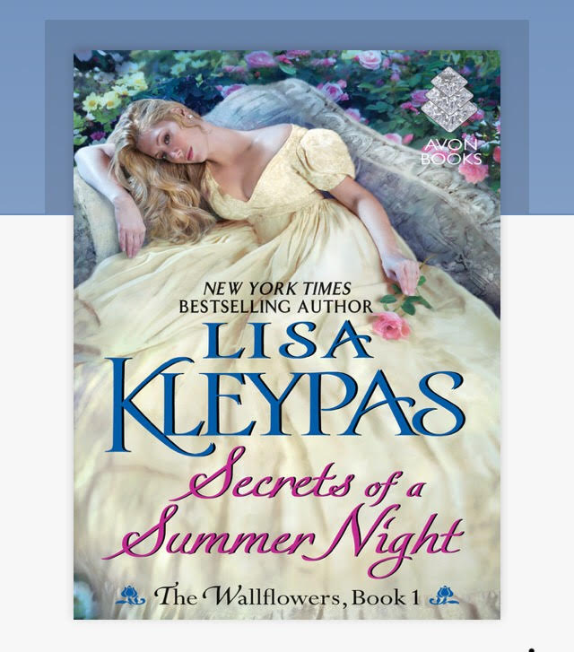 """Cover of """"Secrets of a Summer Night"""" by Lisa Kleypas as seen in the Libby app."""
