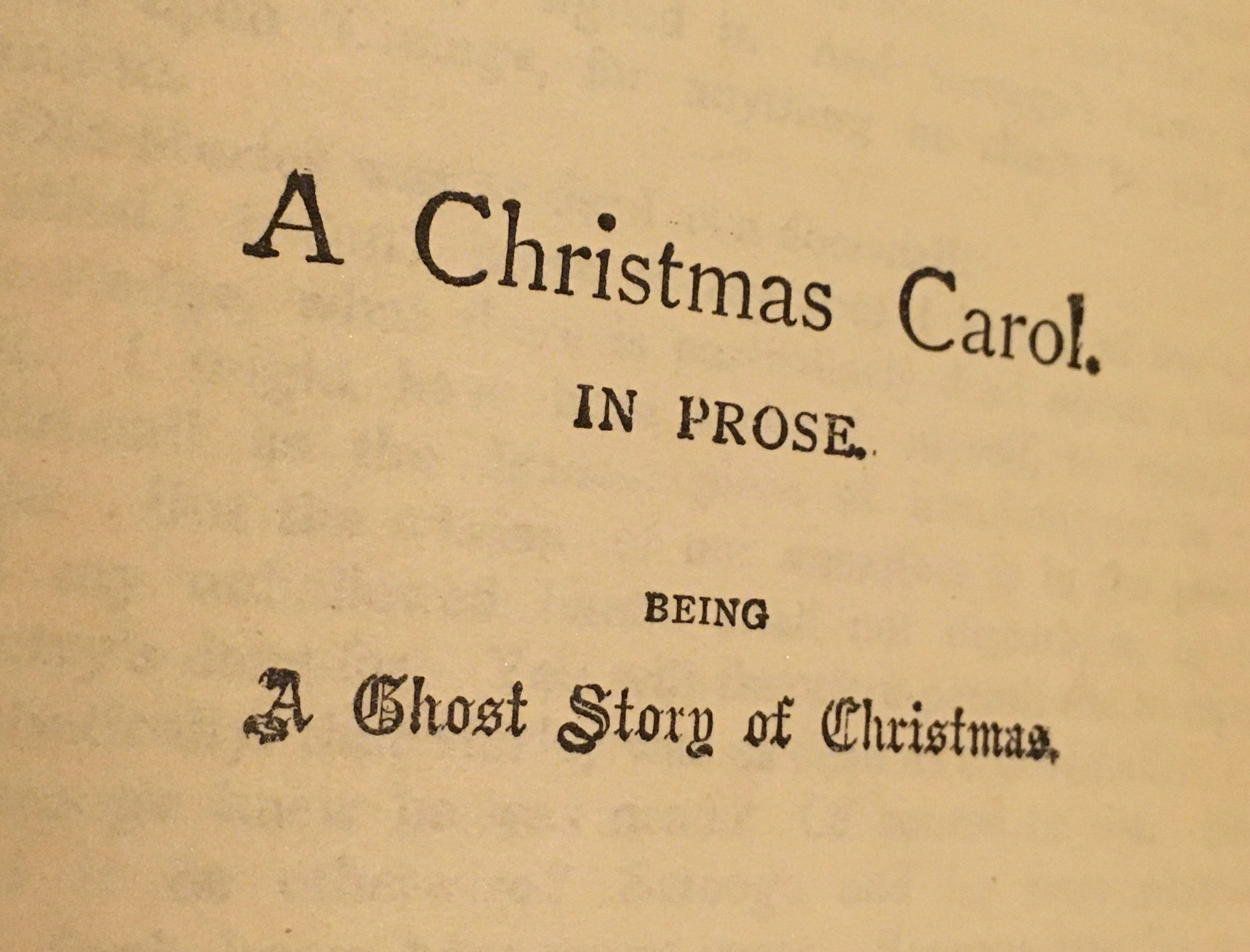 "Title page: ""A Christmas Carol. In Prose. Being a Ghost Story of Christmas."""